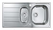 Grohe Abwäschen - Spülbecken K1000 mit automatischem Ablauf, 965x500 mm, gebürsteter Edelstahl 31564SD1