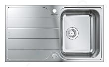 Grohe Abwäschen - Spülbecken K1000 mit automatischem Ablauf, 860x500 mm, gebürsteter Edelstahl 31571SD1