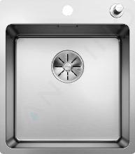 Blanco Andano 400 - Lavello, 440x500 mm, con comando piletta di scarico, bordo piatto, acciaio inox 522993