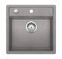 Blanco Dalago 5 - Silgranit spoelbak, 515x510 mm, draaiknopbediening, aluminium 518522