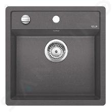 Blanco Dalago 5 - Silgranit spoelbak, 515x510 mm, draaiknopbediening, rock grey 518848