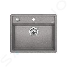 Blanco Dalago 6 - Silgranitspüle, 515x510 mm, mit Ablaufsystembedienung, Aluminium 514198