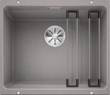 Blanco Etagon 500 - Silgranitspüle, 530x460 mm, mit Schienen, Aluminium 522229