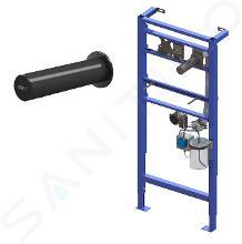 Sanela RVS zeepdispensers - Elektronische zeepdispenser en montage frame SLR 24, net voeding, zwart SLZN 83EVR