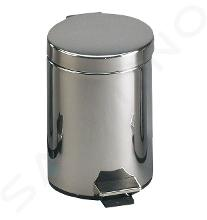 Sanela Pattumiere in acciaio inox - Pattumiera in acciaio inox, 20 l, opaco SLZN 12X