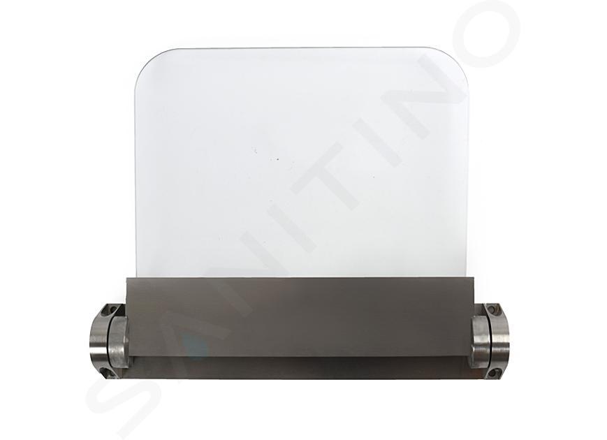 Reming Accessoires en inox - Strapontin rabattable, verre/inox brossé ALT6