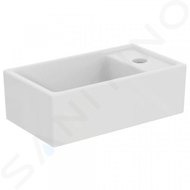 Ideal Standard Tempo - Lave-mains 370x210 mm, sans trop-plein, 1 trou de robinetterie à droite, blanc E211201