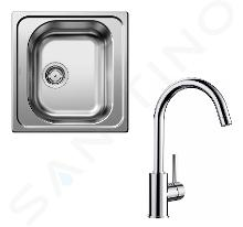 Blanco Sets - Ensemble évier Tipo 45 et robinetterie Mida, inox/chrome SET 02-C MIDA