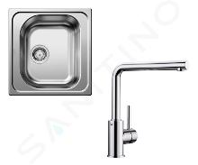 Blanco Sets - Ensemble évier Tipo 45 et robinetterie Mila, inox/chrome SET 02-D MILA