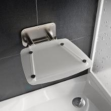 Ravak Ovo B II - Sprchové sedátko Clear, 360x360 mm, nerez/čirá B8F0000051
