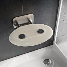 Ravak Ovo P II - Sprchové sedadlo Clear, 410x350 mm, nerezová/číra B8F0000048