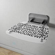 Ravak Ovo B II - Sprchové sedátko Decor Text, 360x360 mm, nerez/bíločerná B8F0000054