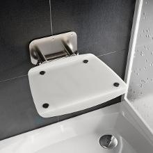Ravak Ovo B II - Sprchové sedátko Opal, 360x360 mm, nerez/průsvitně bílá B8F0000052
