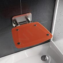 Ravak Ovo B II - Sprchové sedátko Orange, 360x360 mm, nerez/průsvitně oranžová B8F0000053