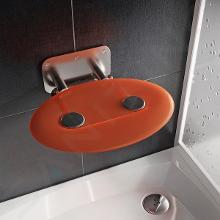 Ravak Ovo P II - Sprchové sedadlo Orange, 410x350 mm, nerezová/priesvitne oranžová B8F0000050