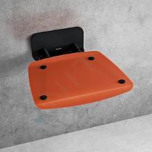 Ravak Ovo B II - Sprchové sedátko Orange/Black, 360x360 mm, černá/průsvitně oranžová B8F0000061