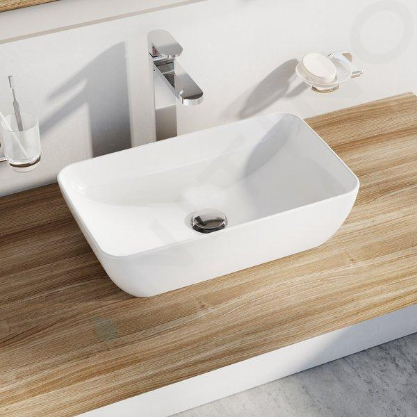 Ravak UNI - Umývadlo na dosku Uni 500 R Slim, 500x310 mm, biela XJX01150001