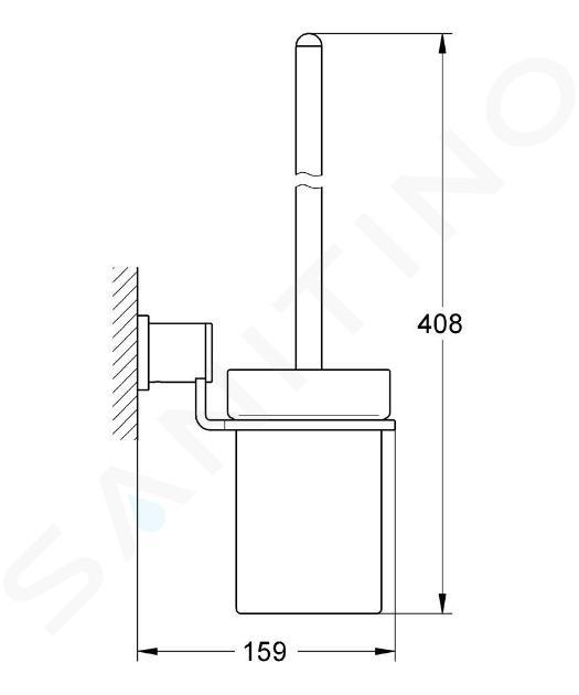 Grohe Allure - Allure souprava na čištění toalety, chrom 40340000