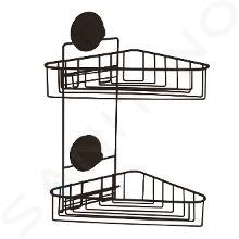 Compactor Bestlock - Rohová drátěná polička, černá RAN9779